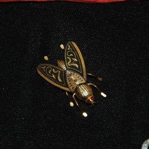 Fly Pin w/ faux Ruby Eyes